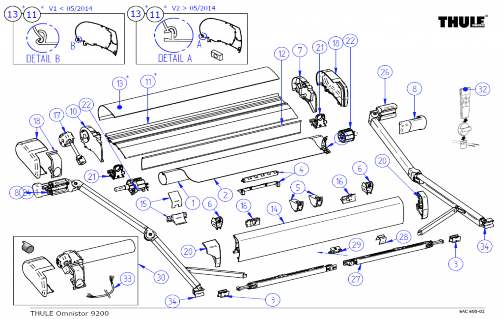 Thule Omnistor 9200 Awning Spare Parts by Rose Awnings