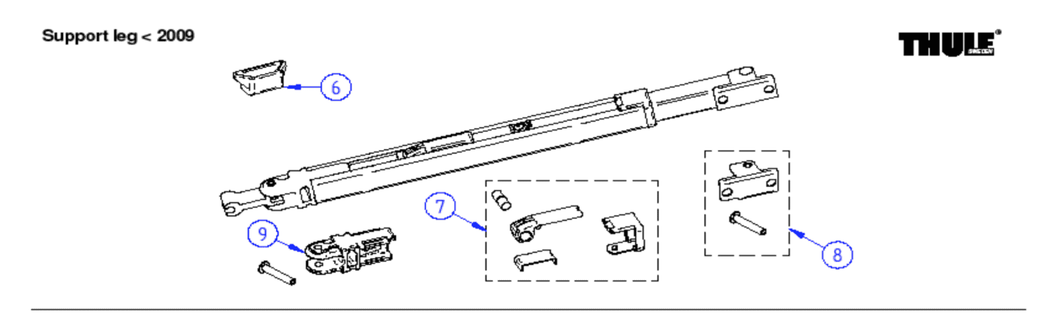 Thule Omnistor Support Leg Spare Parts by Rose Awnings