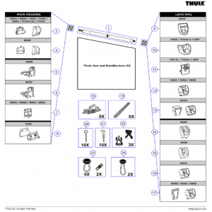 Thule Blocker G2 Spare Parts