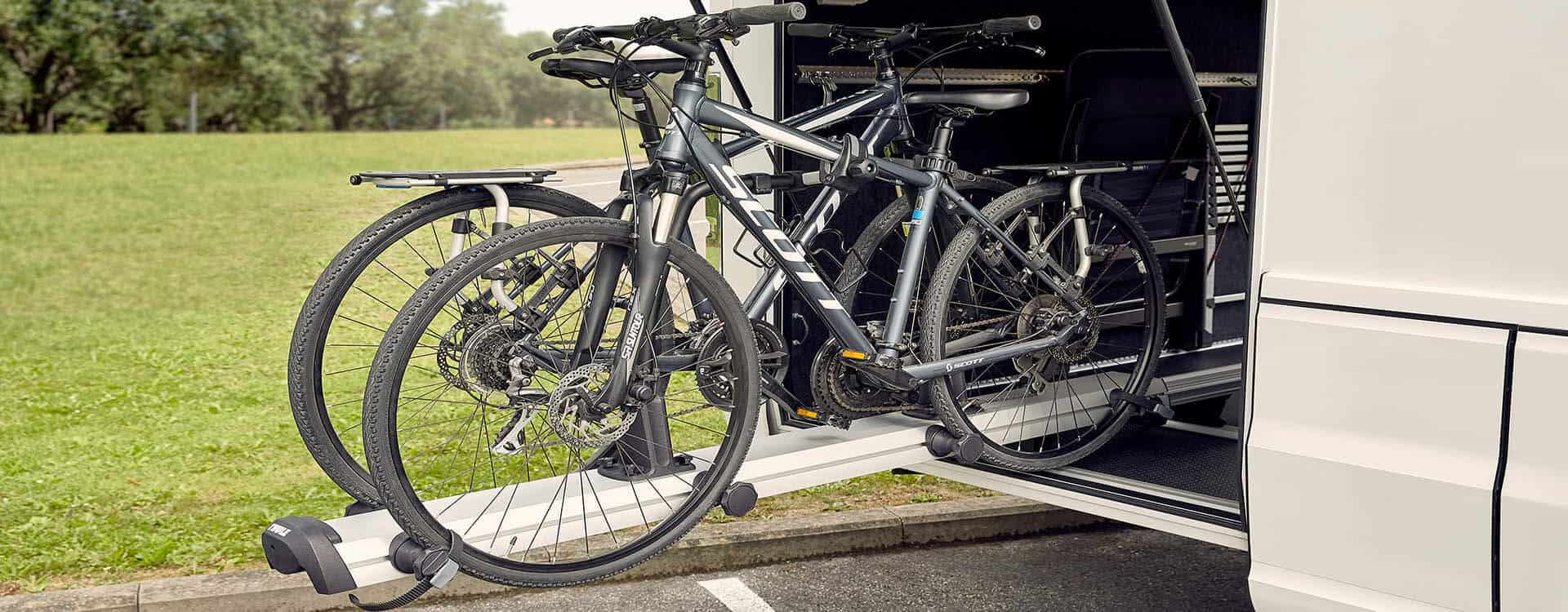 thule velospace garage bike rack